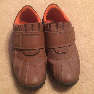Polo sport leather shoes